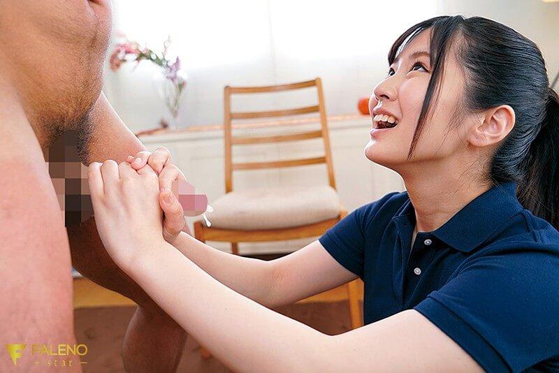 【川北メイサちゃんのAVデビュー作】うぶな恥じらい、緊張感漂う初脱ぎと、エッチな手コキ、フェラ、絡みのギャップが最高でした!